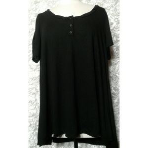 Torrid black Tunic shirt size 0